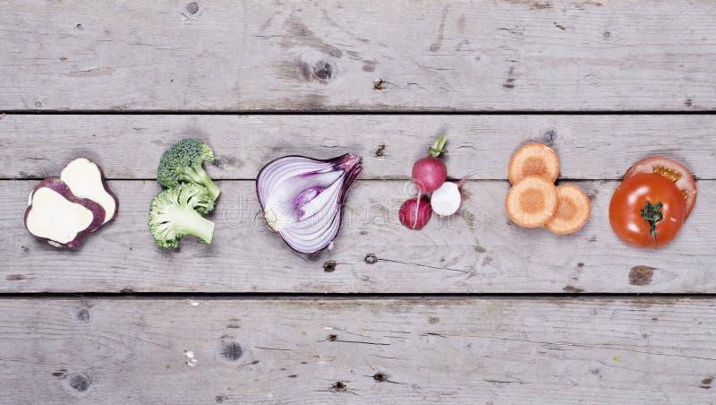 Compilação de vegetais orgânicos imagens de stock