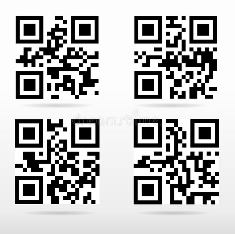Compilation qr code ready to scan with smart phone