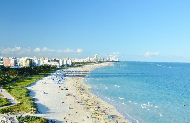 Compite de Miami Beach la Florida los E.E.U.U. tomada del barco de cruceros fotos de archivo libres de regalías