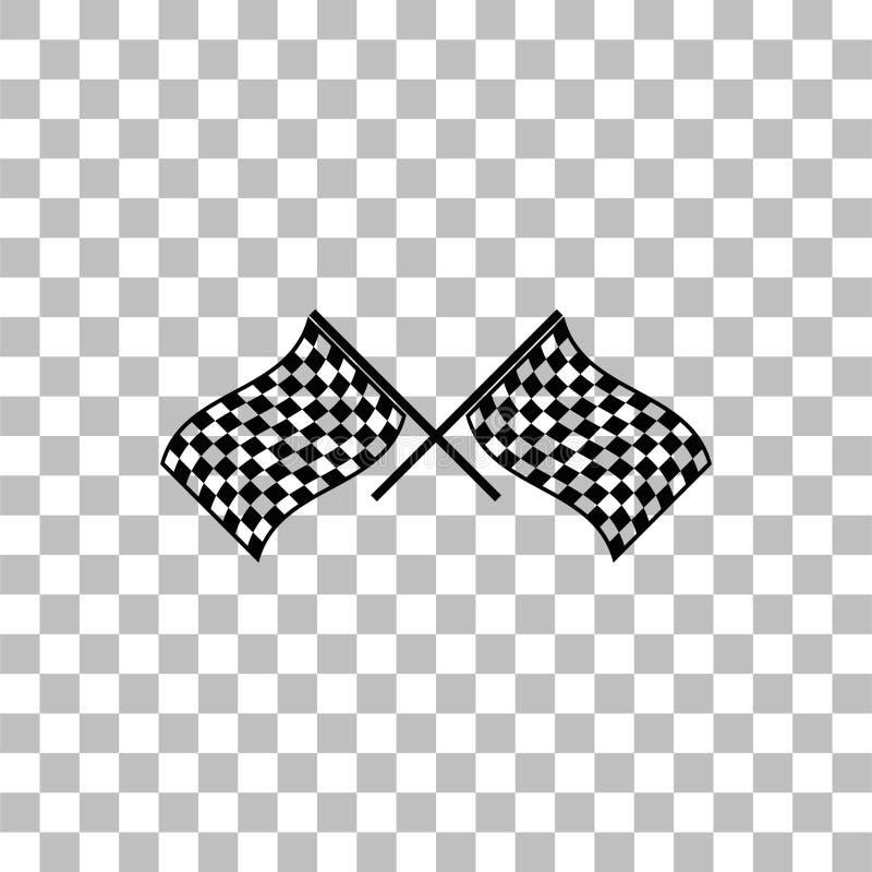 Compitiendo con el icono de la bandera completamente ilustración del vector
