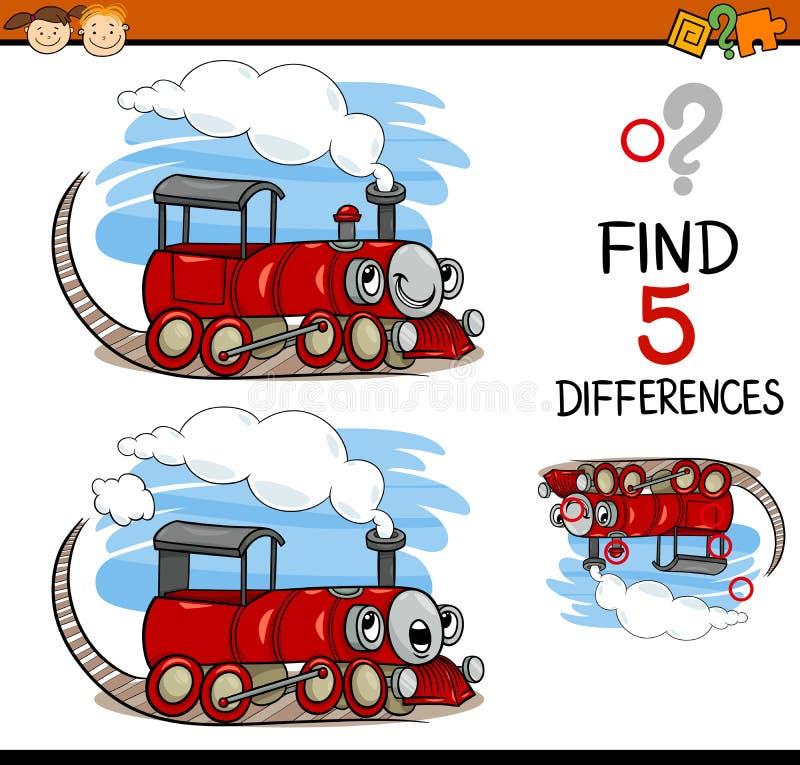 Compito di individuazione del fumetto di differenze illustrazione di stock