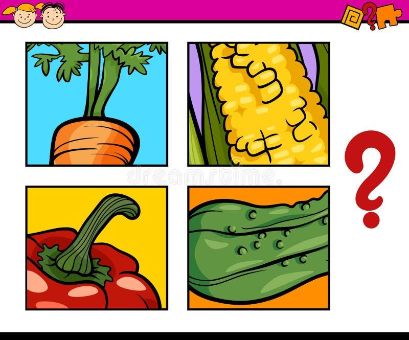 Compito educativo di puzzle per i bambini illustrazione vettoriale