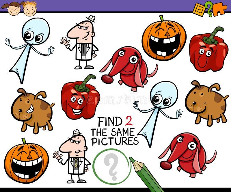 Compito per i bambini prescolari illustrazione vettoriale