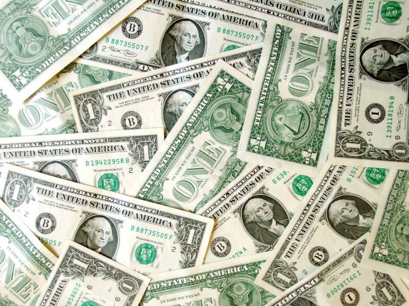 Complètement Du Dollar Américain D Argent Image libre de droits