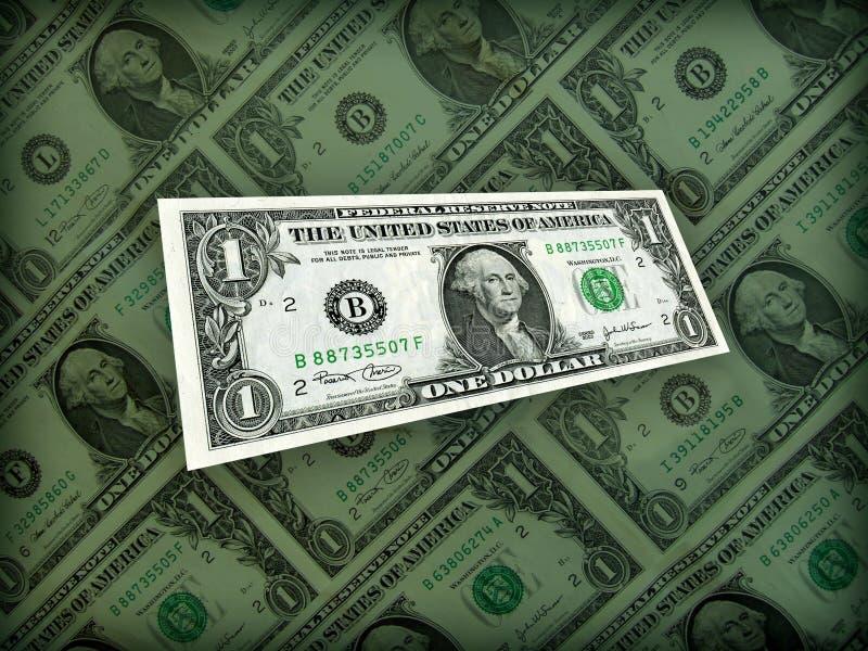 Complètement Du Dollar Américain D Argent Sur Le Noir Photos libres de droits