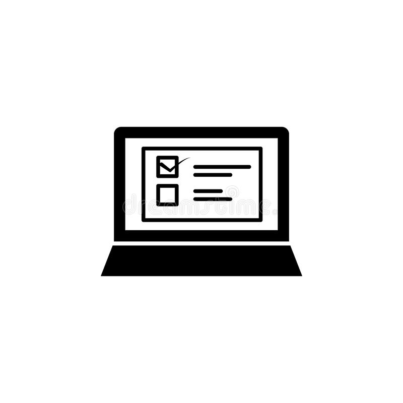 compléter l'icône en ligne de questionnaire Élément d'icône de Web pour les apps mobiles de concept et de Web Remplissage d'isole illustration de vecteur