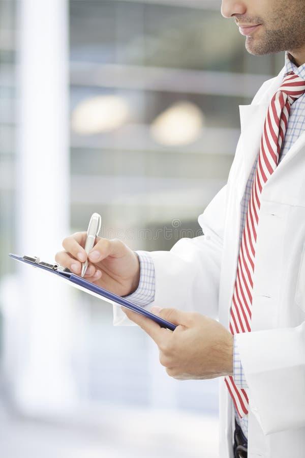 Compléter le document médical photographie stock