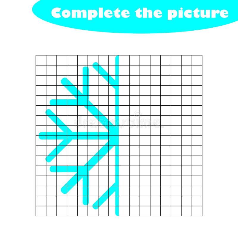 Complétez le tableau de la situation, flocon de neige dans le style de bande dessinée, la formation de dessin de qualifications,  illustration stock