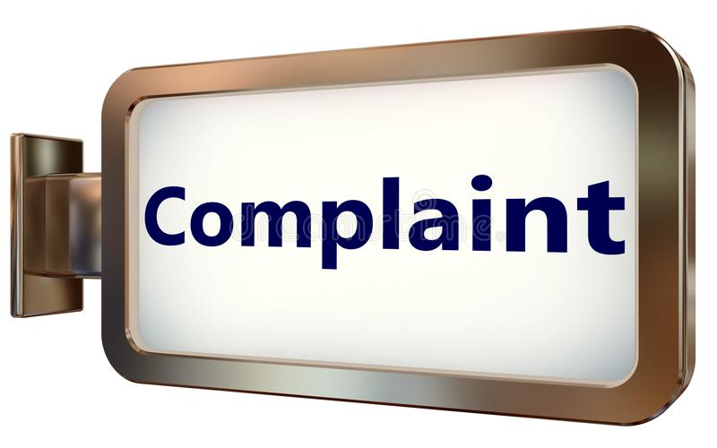 Complaint on billboard background royalty free illustration