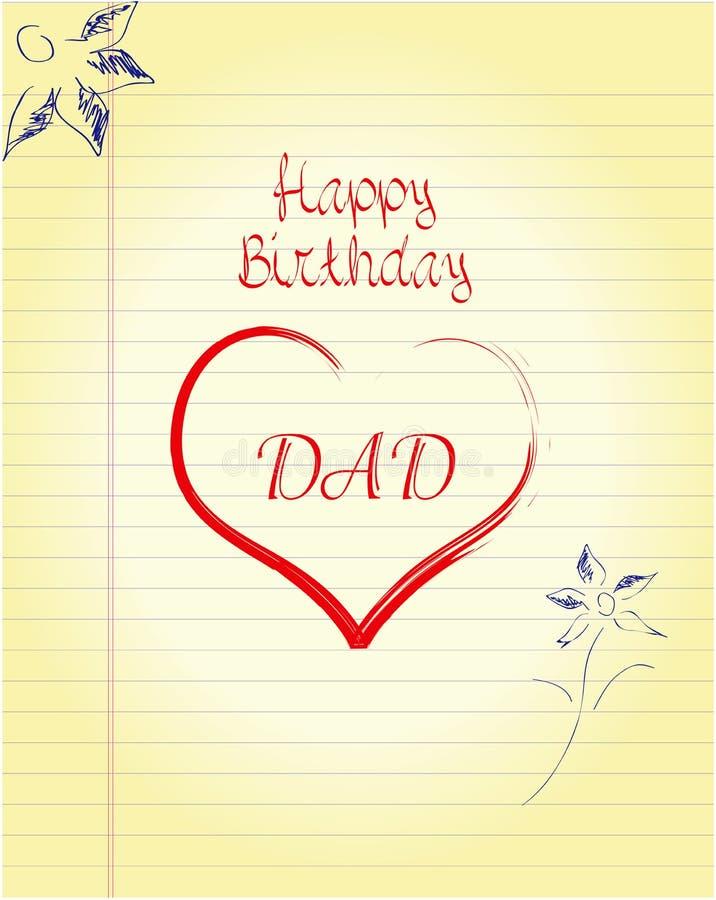 spesso Compleanno del papà illustrazione di stock. Immagine di libro  XG41