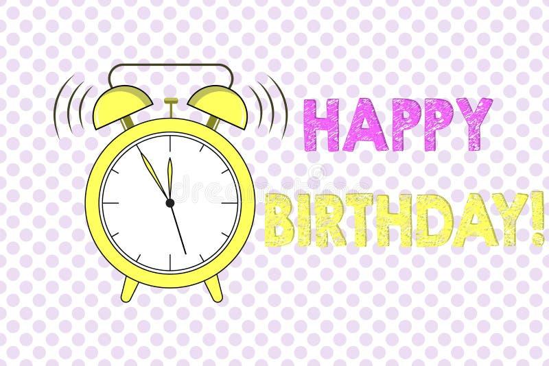 Compleanno del testo di scrittura di parola buon Il concetto di affari per l'anniversario della nascita di una persona è celebrat illustrazione vettoriale