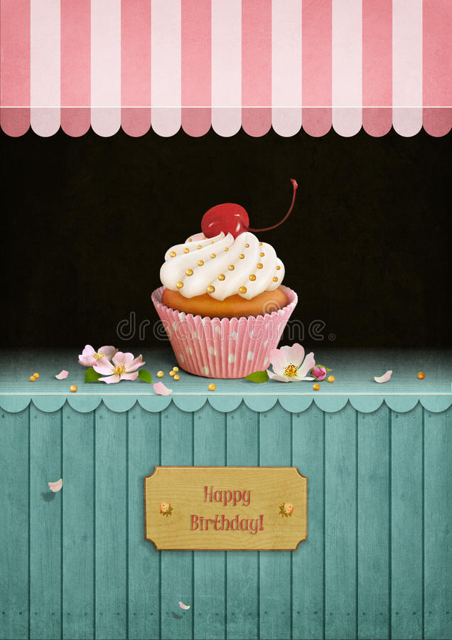 Compleanno della cartolina illustrazione di stock