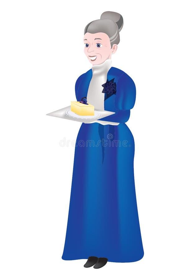 Compleanno della nonna royalty illustrazione gratis