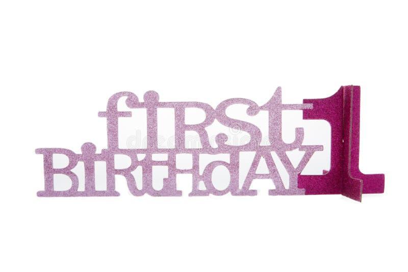 Compleanno della ragazza il primo fotografia stock libera da diritti