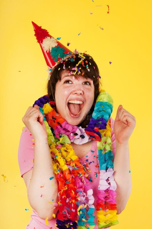 Compleanno emozionante immagini stock libere da diritti