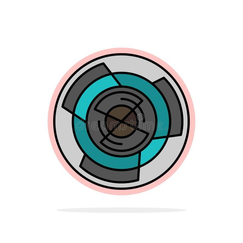Complejidad, negocio, desafío, concepto, laberinto, lógica, icono del color de Maze Abstract Circle Background Flat libre illustration