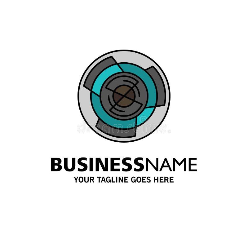 Complejidad, negocio, desafío, concepto, laberinto, lógica, Maze Business Logo Template color plano libre illustration