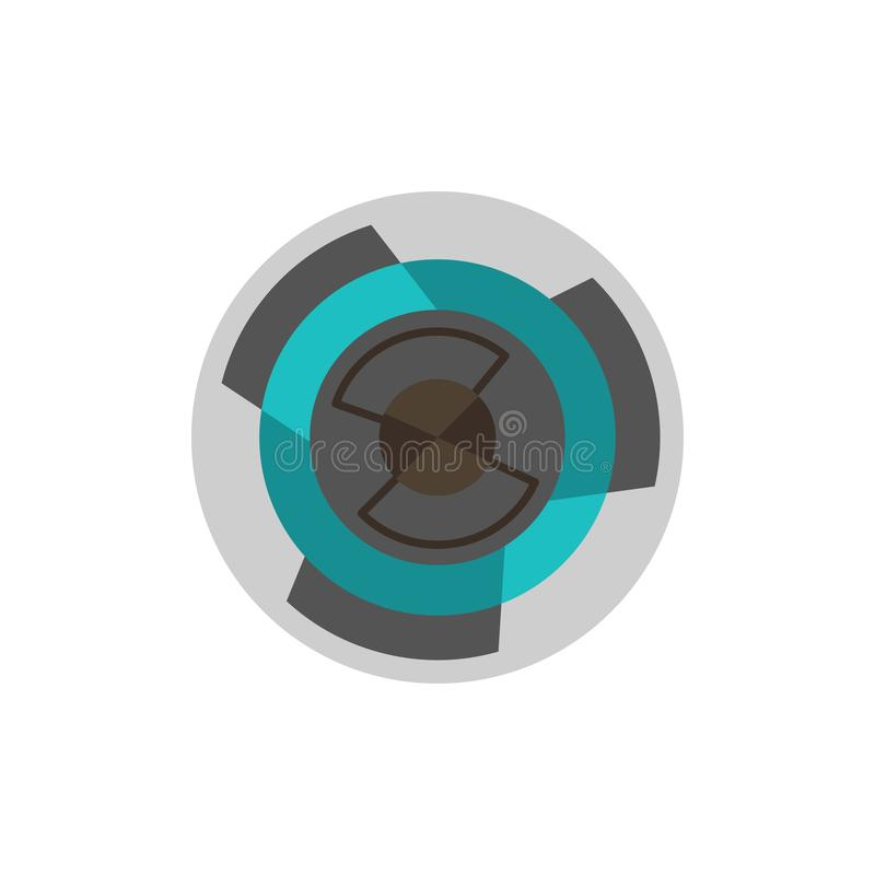 Complejidad, negocio, desafío, concepto, laberinto, lógica, Maze Flat Color Icon Plantilla de la bandera del icono del vector ilustración del vector