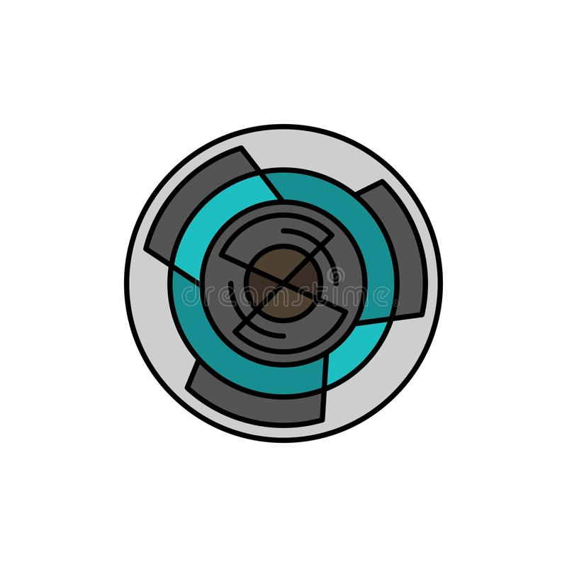 Complejidad, negocio, desafío, concepto, laberinto, lógica, Maze Flat Color Icon Plantilla de la bandera del icono del vector libre illustration