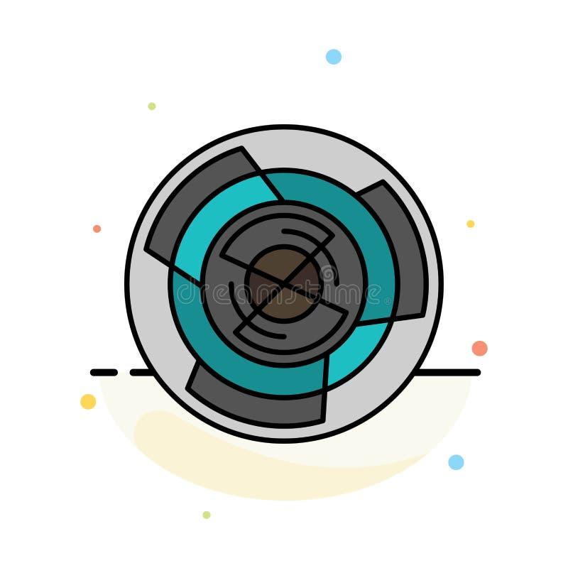 Complejidad, negocio, desafío, concepto, laberinto, lógica, plantilla de Maze Abstract Flat Color Icon ilustración del vector