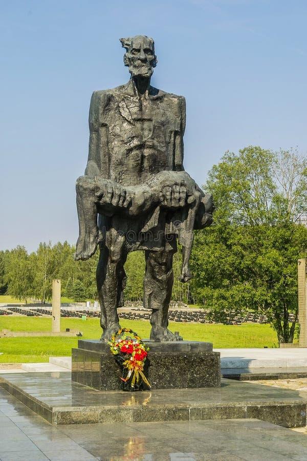 Complejo conmemorativo de Khatyn en la República de Belarús imagen de archivo libre de regalías