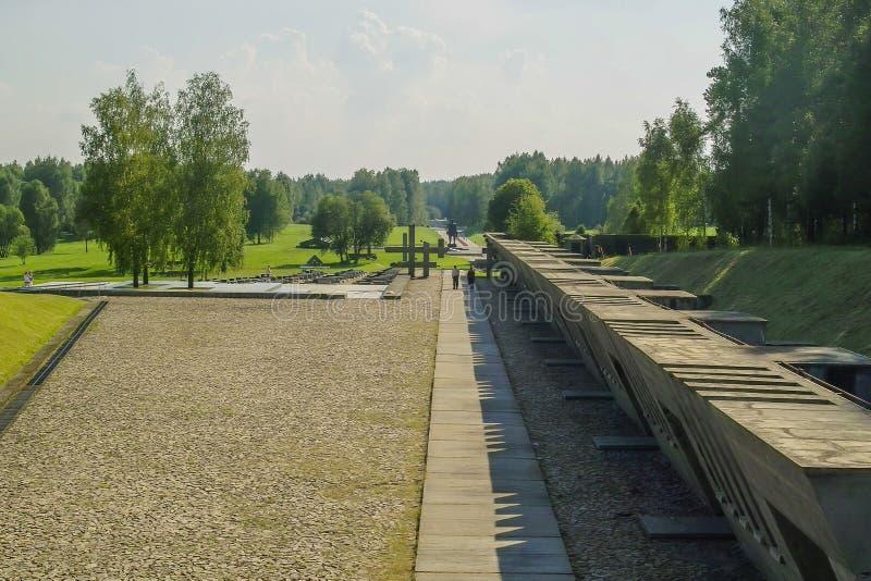 Complejo conmemorativo de Khatyn en la República de Belarús foto de archivo libre de regalías