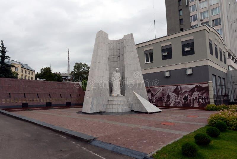 Complejo conmemorativo dedicado a la memoria de los empleados de los cuerpos de los asuntos internos de la región de Nizhny Novgo fotos de archivo