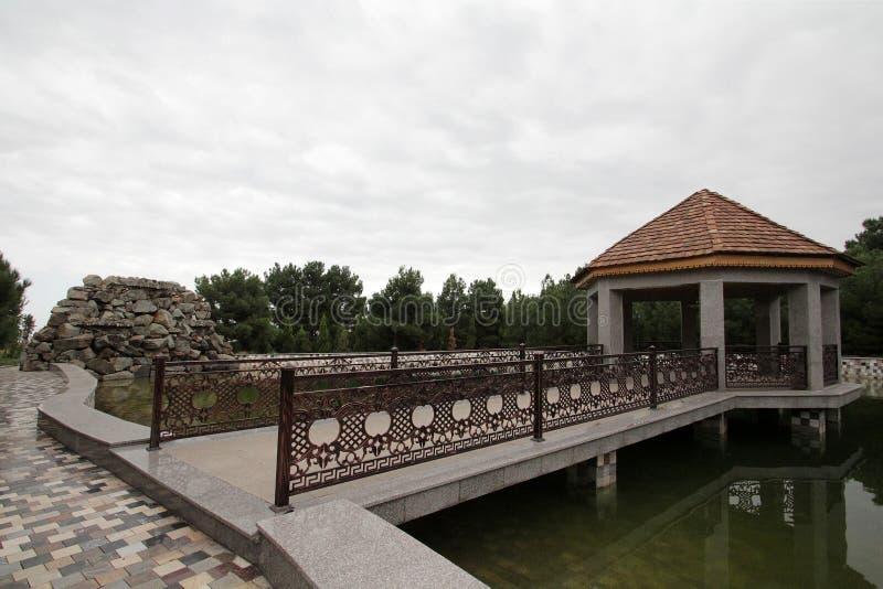 Complejo conmemorativo del mausoleo Nizami Ganjavi del poeta fotografía de archivo