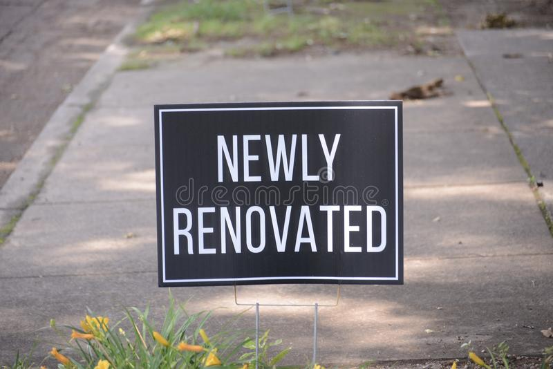 Complejo de apartamentos nuevamente renovado foto de archivo libre de regalías