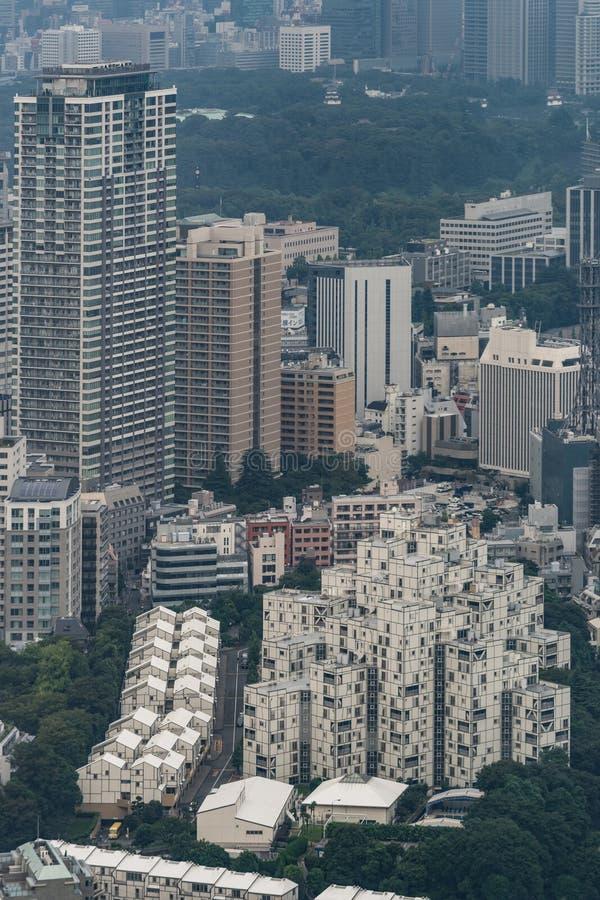 Complejo de apartamentos relativamente bajo en Tokio fotos de archivo libres de regalías