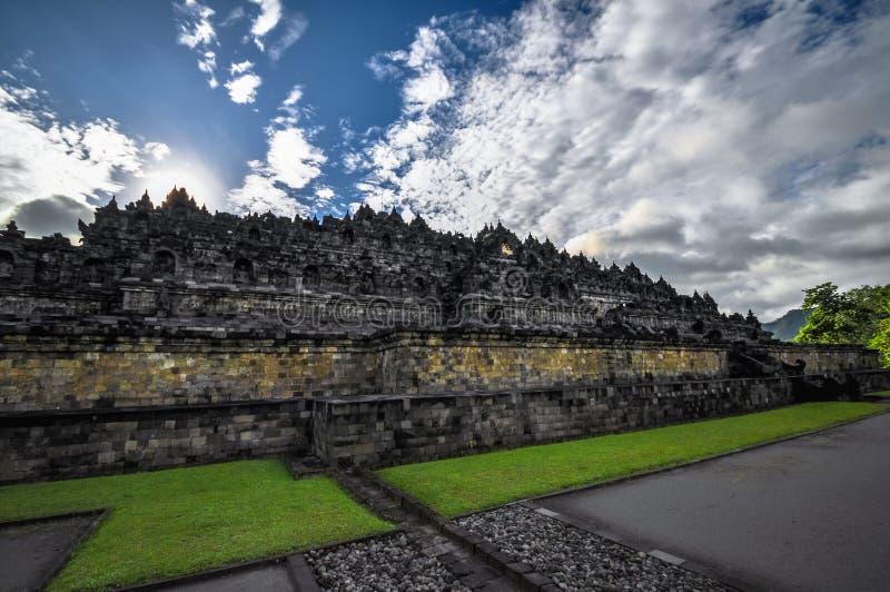 Complejo de Borobudur del templo de Buddist en Yogjakarta en Java foto de archivo libre de regalías