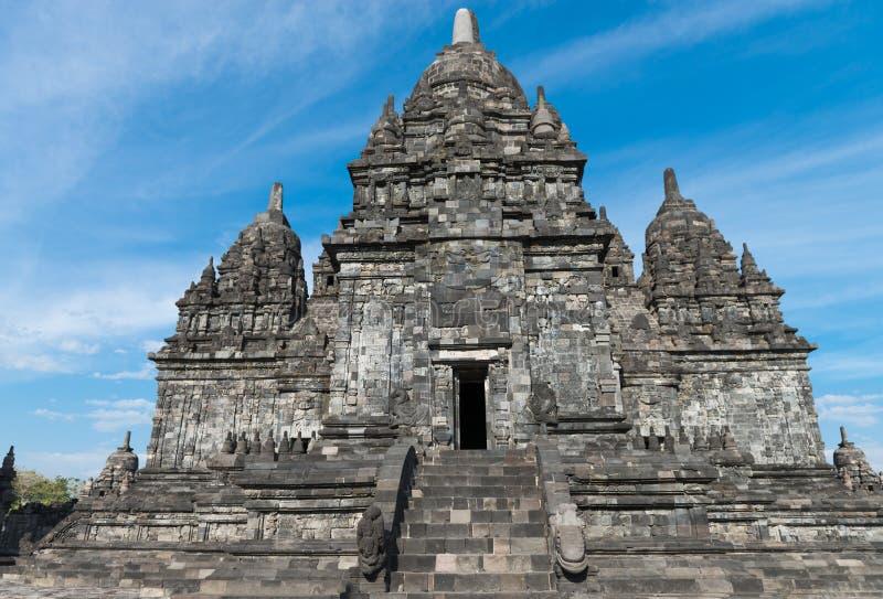 Complejo de Candi Sewu Buddhist en Java, Indonesia imágenes de archivo libres de regalías