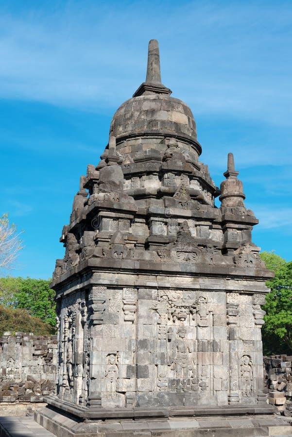 Complejo de Candi Sewu Buddhist en Java, Indonesia fotos de archivo libres de regalías