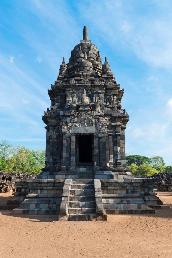 Complejo de Candi Sewu Buddhist en Java, Indonesia imagenes de archivo