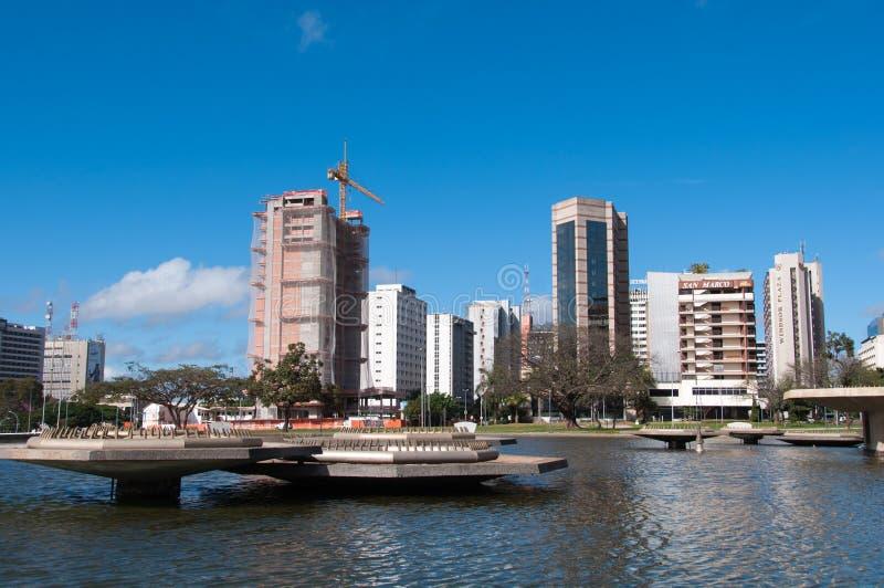 Complejo de edificios del hotel de Brasilia fotos de archivo libres de regalías