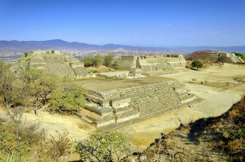 Complejo de Monte Alban, México fotos de archivo libres de regalías