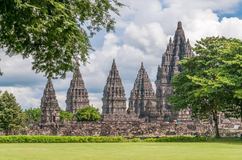Complejo de Prambanan foto de archivo