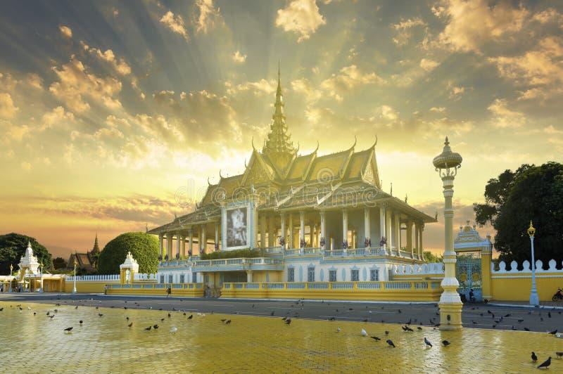 Complejo de Royal Palace, Camboya fotografía de archivo