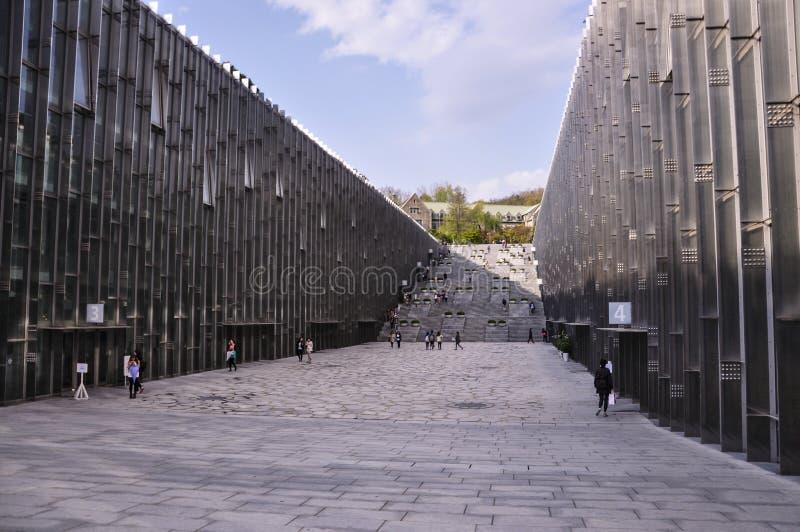Complejo del campus de Ewha La universidad de la mujer de Ewha, es una universidad de las mujeres privadas en Seúl imagen de archivo