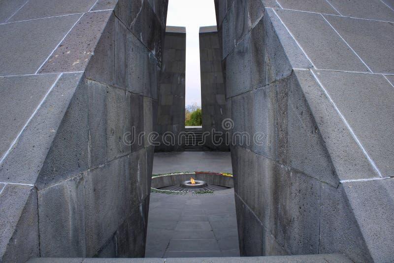 Complejo del genocidio de Ereván imágenes de archivo libres de regalías