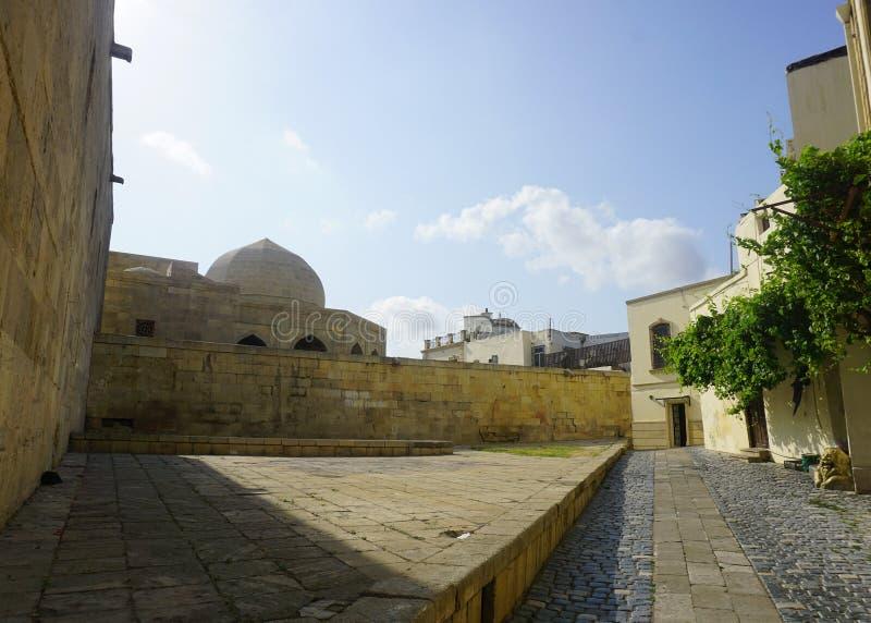 Complejo del palacio del ` s de Baku Shirvanshah imagen de archivo libre de regalías