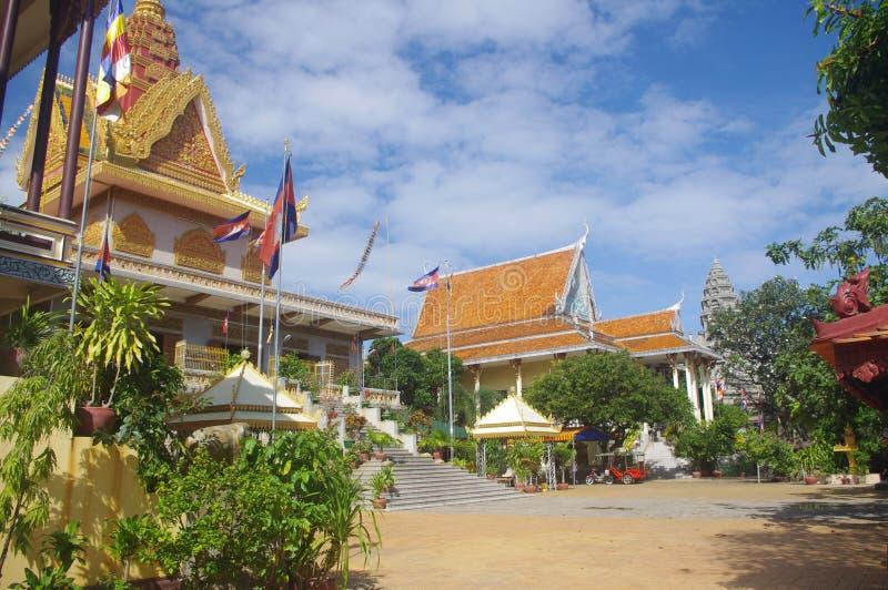 Complejo del templo budista fotografía de archivo libre de regalías
