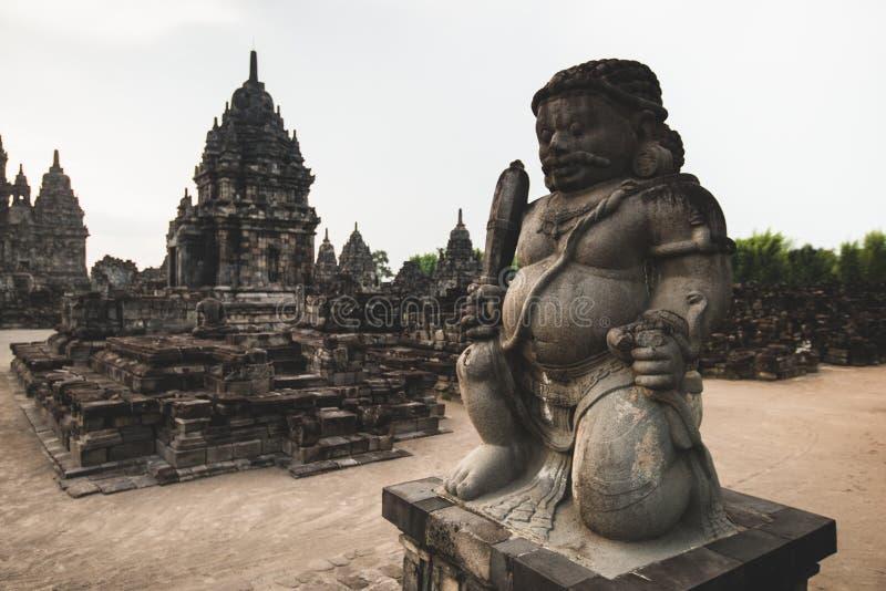 Complejo del templo de Prambanan en la isla de Java en Indonesia fotos de archivo libres de regalías