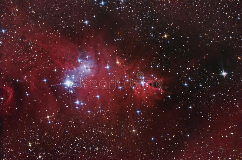 Complejo nebuloso. foto de archivo