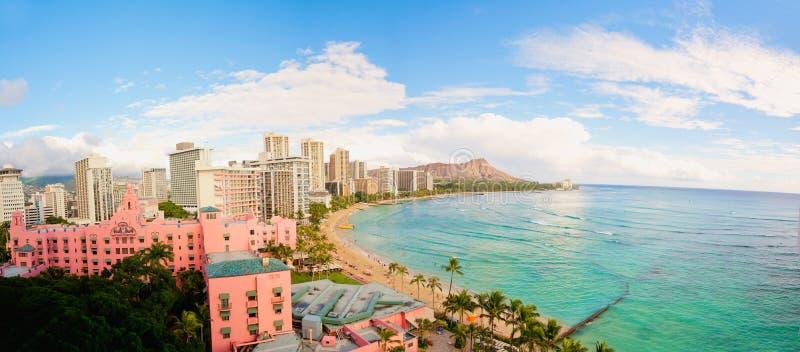 Complejo playero de Hawaii foto de archivo