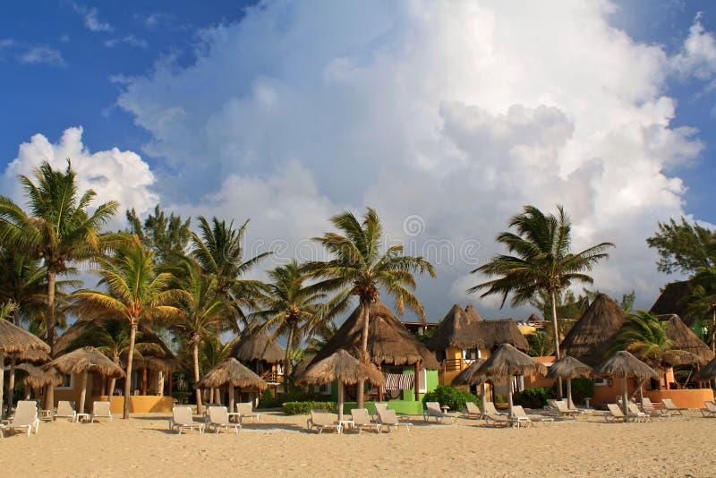 Complejo playero de Playa del Carmen imágenes de archivo libres de regalías
