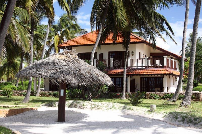Complejo playero de Zanzibar fotos de archivo