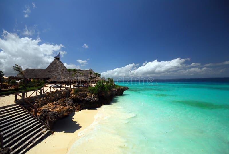 Complejo playero de Zanzibar fotografía de archivo libre de regalías