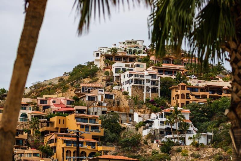 Complejos playeros en Cabo San Lucas, México, Baja California imagenes de archivo