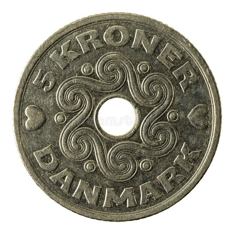 5 complemento della moneta 1997 della corona danese fotografie stock libere da diritti
